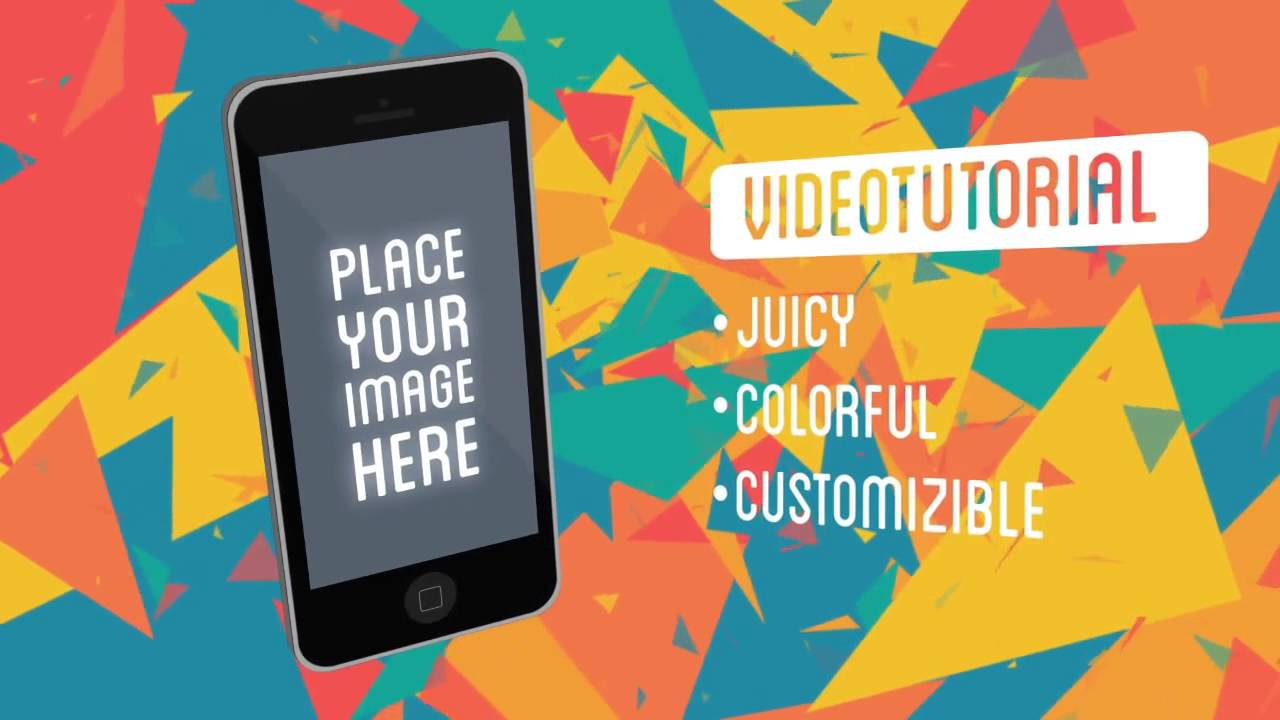 Juicy Mobile App Commercial After Effects Project Template Files - After effects commercial template