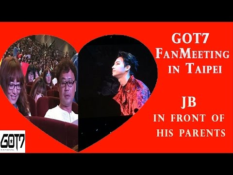 170106 - GOT7 FanMeeting in Taipei ( JB in front of his parents )