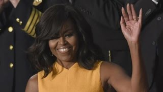 Michelle Obama Shuts Down the State of the Union Address With Her Flawless Yellow Dress!