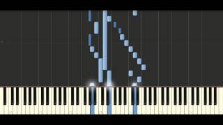 Bach -  Sinfonia in G major, BWV 796 - Piano Tutorial Synthesia