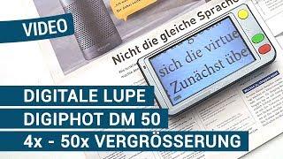 Produktvideo zu Mobile Lesehilfe Digiphot Digitale Lupe DM-50
