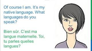 Dialogue 19 - English French Anglais - What languages do you speak? Quelles langues parles-tu?
