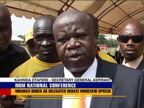 NRM delegates heckle 'Super Minister'