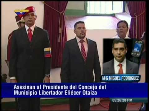 Confirman asesinato de Eliecer Otaiza: palabras de ministro Miguel Rodríguez Torres