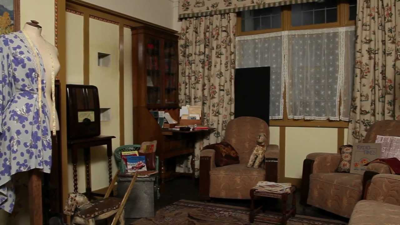 The 1940s house the living room youtube for 40s room decor
