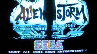 ZX Sinclair spectrum 128k - alienstorm game menu
