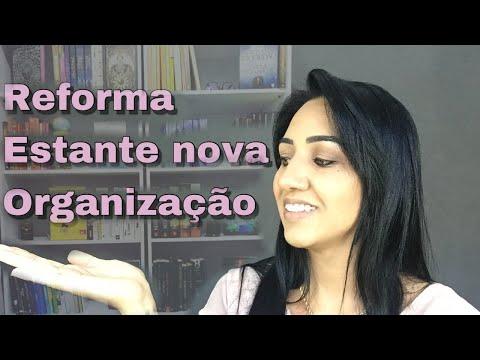 MINHA ESTANTE NOVA I REFORMA DO QUARTO + ORGANIZAÇÃO DOS LIVROS