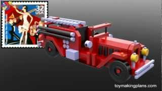 Wood Toy Plans - 1932 Fire Engine Number 36