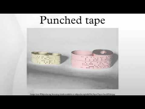 Punched tape HD