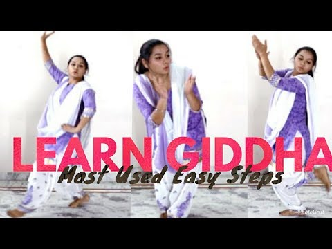 Most Used Easy Giddha Steps l Kaur Amy