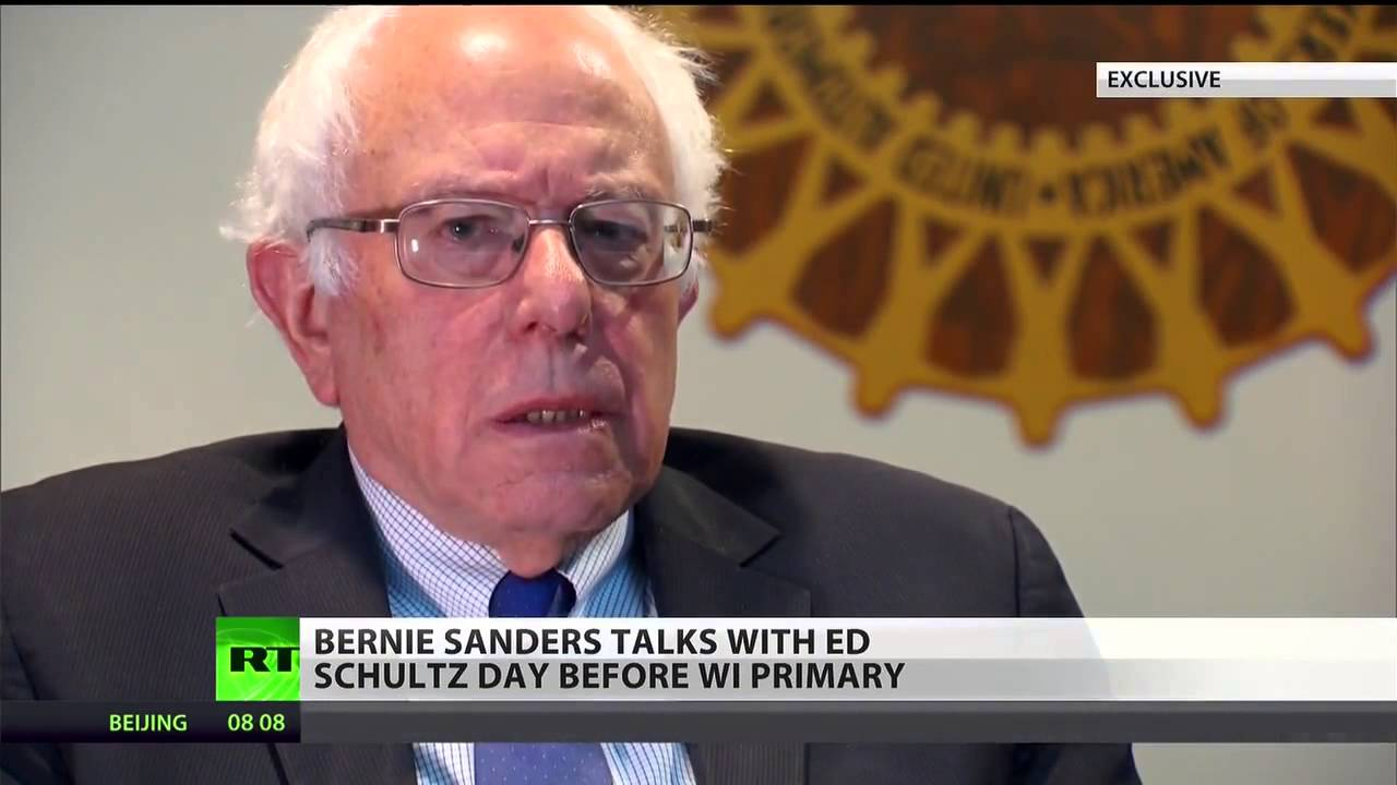 rt exclusive interview with bernie sanders we have a real chance of