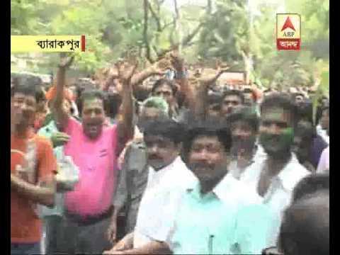 TMC celebrates their winning at barrackpore
