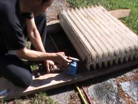 Restoring cast iron radiator Ideal Narag 1935  - part 1