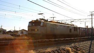 JR貨物 3095レ EF510-510 銀カマ@東海道本線・摂津富田駅~高槻駅