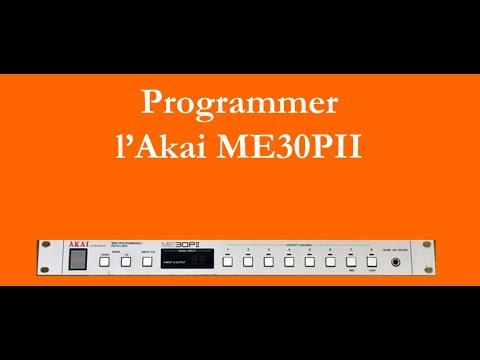 Programmer l'Akai ME30PI