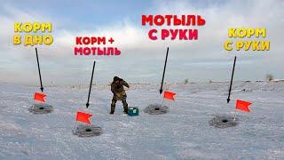 Прикормил рыбу разными способами и вот что из этого вышло Зимняя рыбалка на трудном водоёме