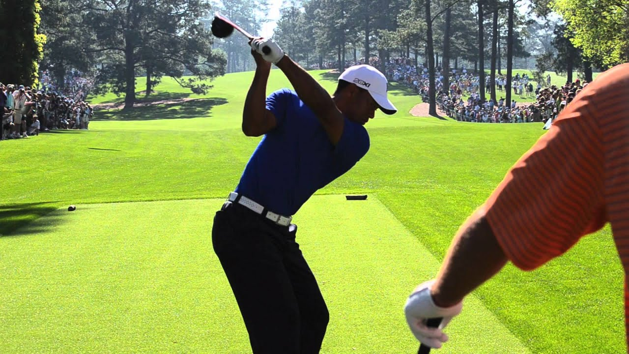 Tiger Woods Golf Swing Driver 2012 With Slow Motion