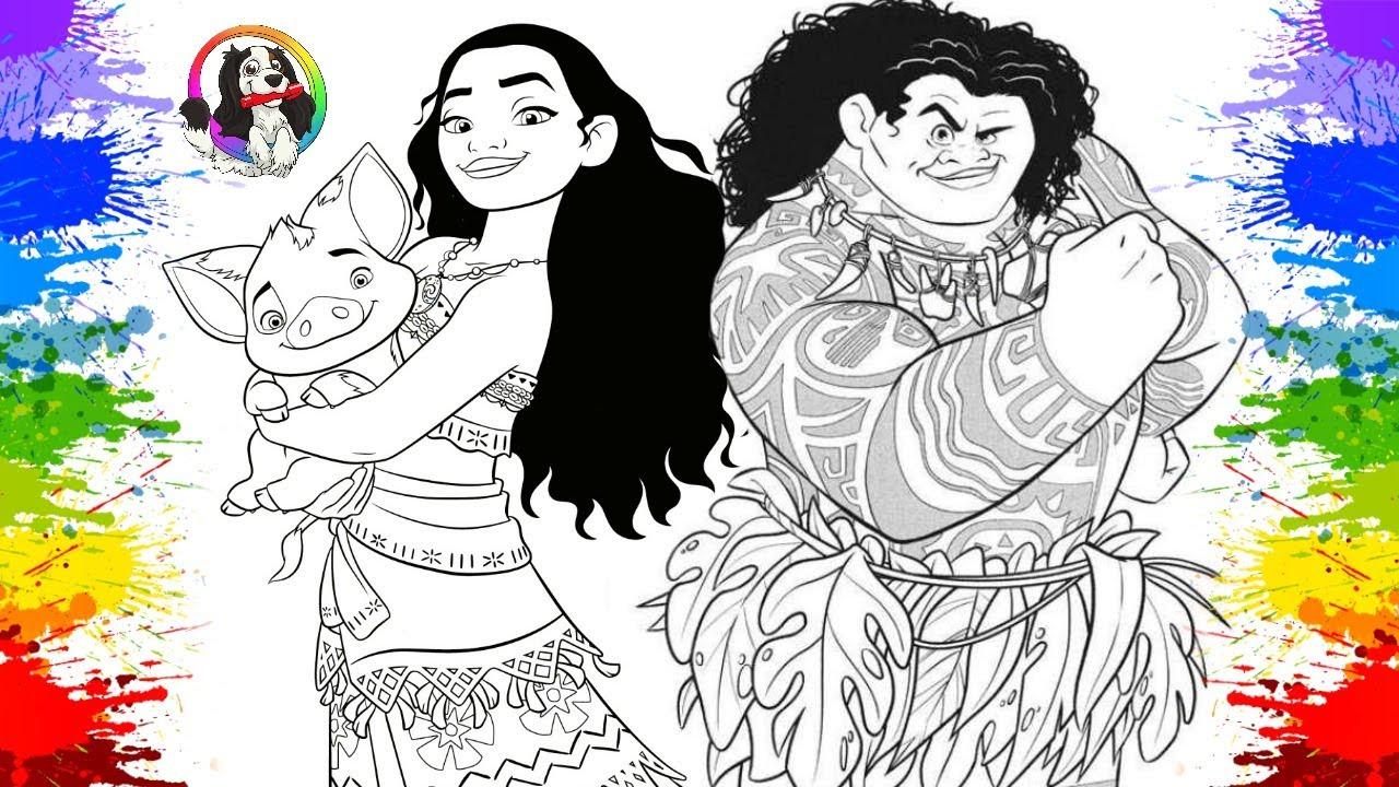 Download Desenholandia Colorindo Desenho da Princesa da Disney | Disney Princess Movie Moana em Português