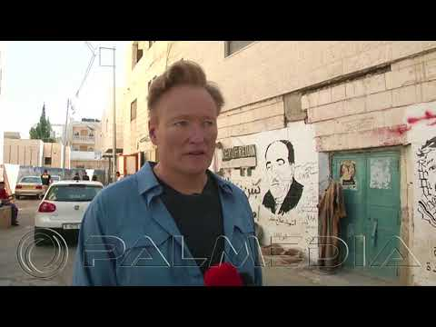 @teamcoco tours the #WestBank & #Bethlehem.... #Palestinian #Conan
