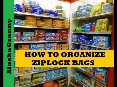 How To Organize Ziplock Bags Youtube