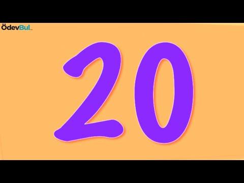Ingilizce Sayilar 20 Ye Kadar Okunus 30dk Youtube