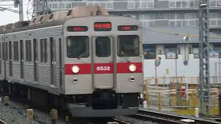[警笛あり]東急8500系8632F 東武スカイツリーライン急行 せんげん台駅到着