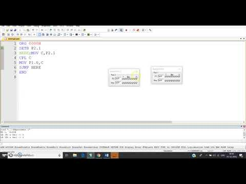 Port Programming 8051(Assembly language) | EXAMPLE 1
