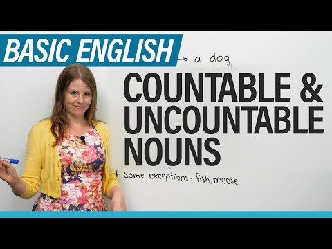 English for Beginners: Countable ' Uncountable Nouns