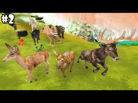 Animal Sim Online: Big Cats 3D - Deer Family - Android / iOS - Gameplay Part 2
