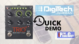 ThePedalGuy Presents the Digitech Trio Plus Looper and Band Creator Pedal Quick Start