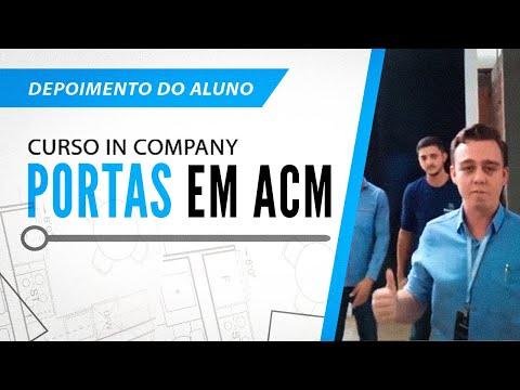 """Treinamento """"in company"""" Portas Pivô Revestidas em ACM"""