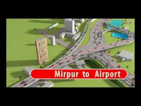 Animation of Zillur Rahman Flyover