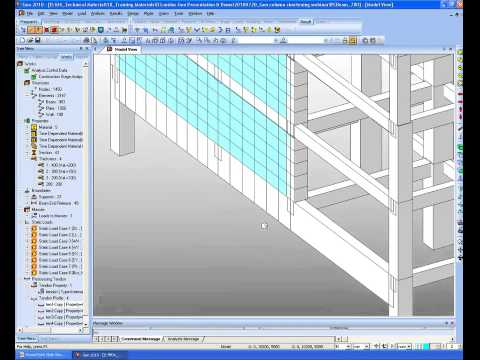 (midas Civil Tutorial) 05 Construction Stage Analysis for Column Shortening.mp4