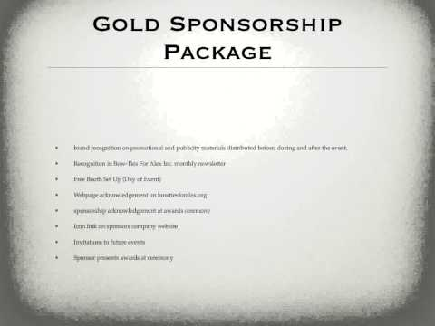 Sports Events & Entertainment Sponsorship Proposal
