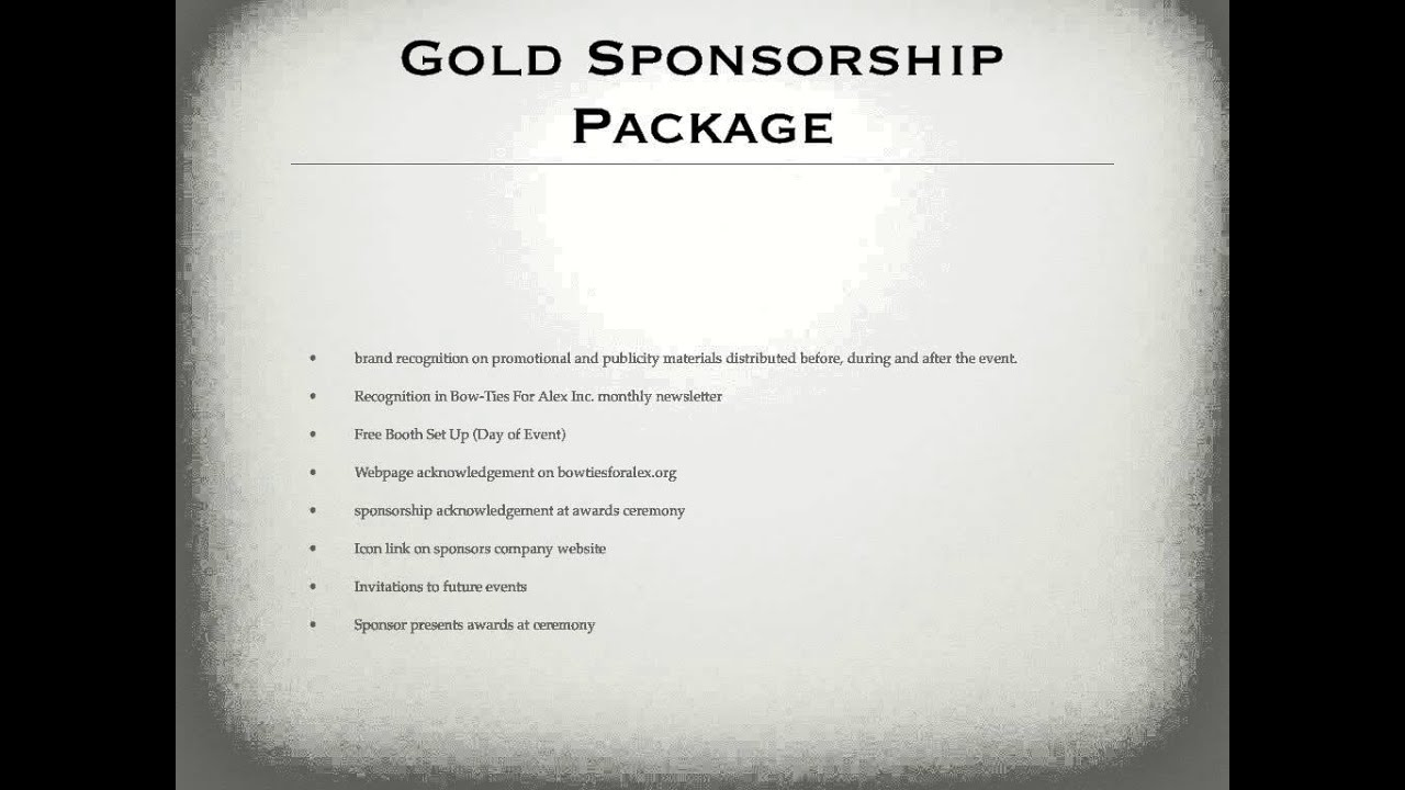 Sports Events Entertainment Sponsorship Proposal Youtube