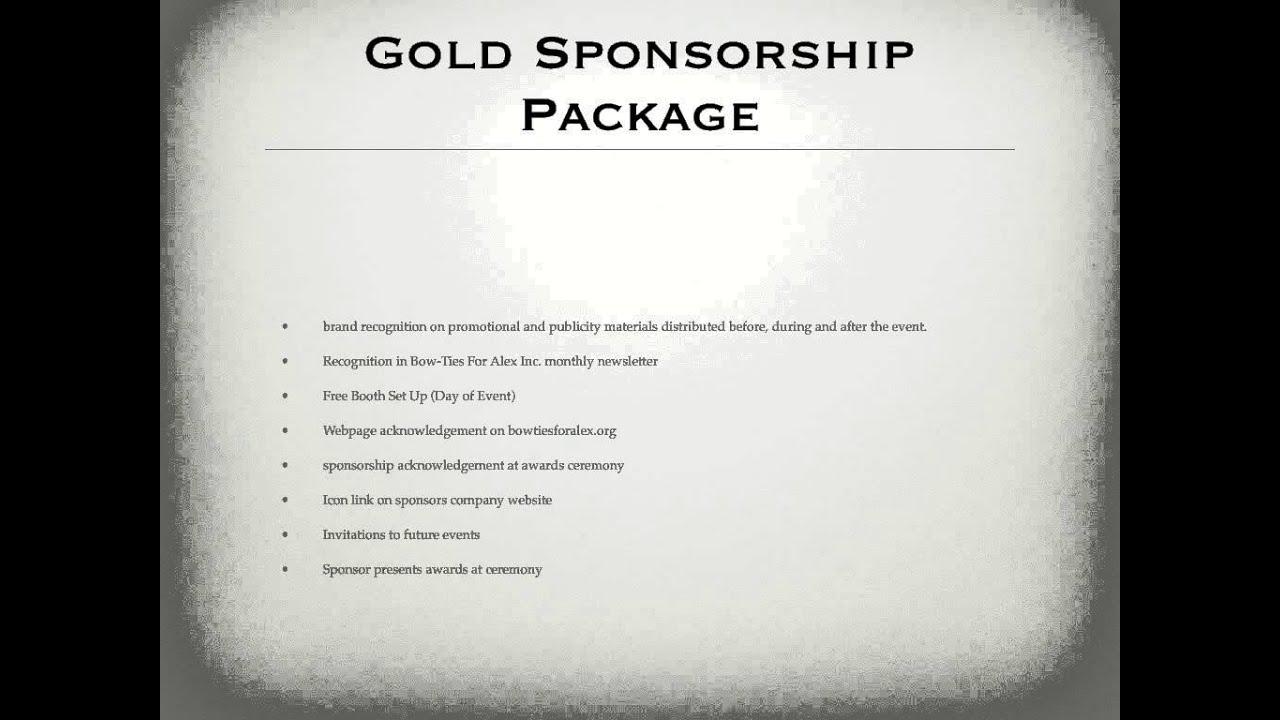 sports events amp entertainment sponsorship proposal youtube