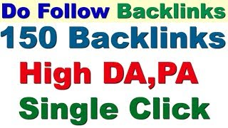 150 HIGH QUALITY UNLIMITED BACKLINKS FOR FREE 2019 OFFPAGE SEO OF ANY WEBSITE 2019 FREE