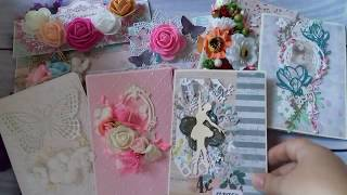 Обзор работ- открытки и конверты. Скрапбукинг.