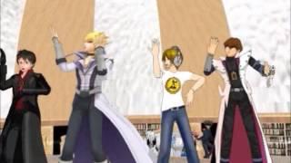 {MMD} Yu-Gi-Oh Karaoke Episode 15 Seto, Jack, Pewdiepie, Eren Poker Face