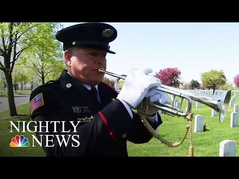 The Morning Rush - Man Teaches Himself Trumpet So He Can Play Taps At Soldiers Funeral