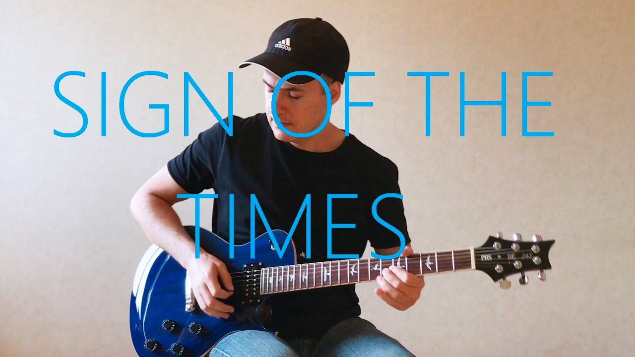 Harry Styles Sign Of The Times Electric Guitar Cover Youtube