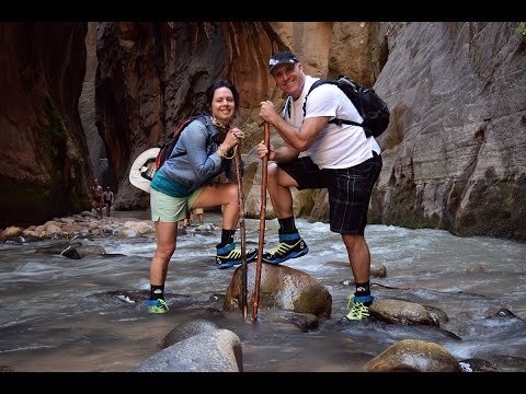 Hiking the Narrows  - Zion Canyon National Park