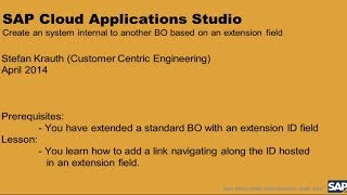 Cloud Applications Studio: Create Extension Field Link to another C4C Business Object