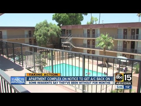 Phoenix apartment complex on notice to get A/C back on