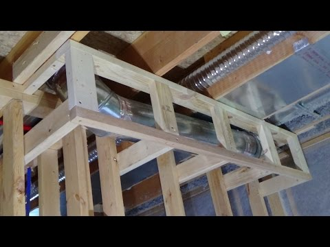 How to Build a Soffit around Ductwork