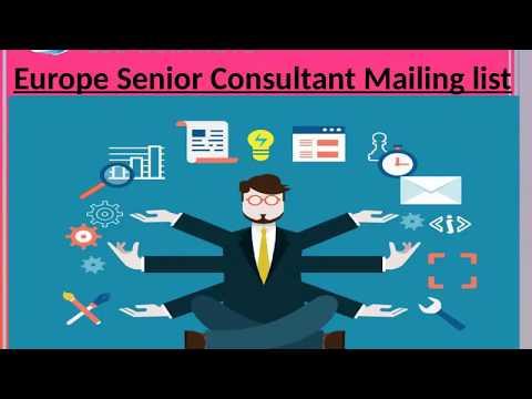 Europe Senior Consultant Mailing list