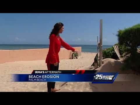 Beach Erosion on Palm Beach