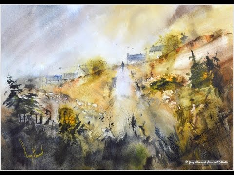 Path to the Farm  – Time Lapse Watercolour Painting