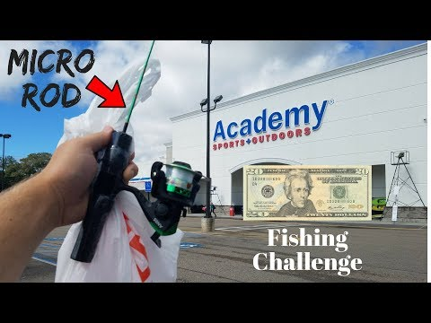 $20 Academy MICRO Fishing Challenge! (Surprising Results!)