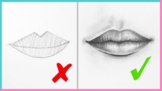 vuclip DOs & DON'Ts: How to Draw Realistic Lips & the Mouth Step By Step | Art Drawing Tutorial